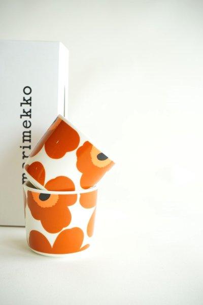 画像1: 【marimekko(マリメッコ)】Unikko コーヒーカップセット(ハンドルなし)